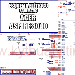 Esquema Elétrico Notebook Laptop ACER  ASPIRE 3040 Manual de Serviço  Service Manual schematic Diagram Notebook Laptop ACER  ASPIRE 3040    Esquematico Notebook Laptop ACER  ASPIRE 3040