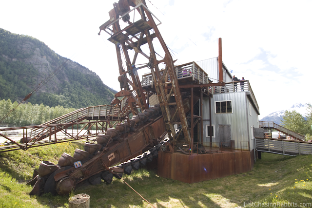 The dredge at Klondike Gold Fields in Skagway