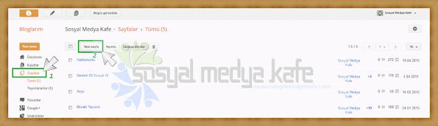 Blogger Resmi İletişim Sayfası Oluşturma
