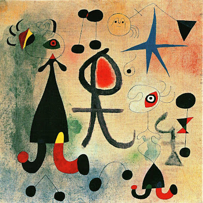 Joan Miro, L'espoir, 1946, oil on canvas. 58 x 58cm