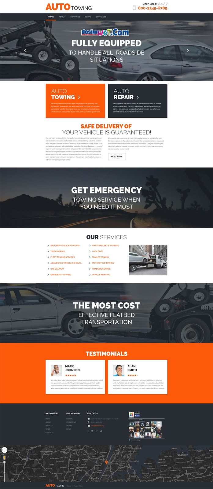 AUTOTOWING Responsive WordPress Theme