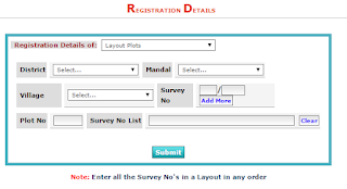 what we Required for Registration details of layout plots image