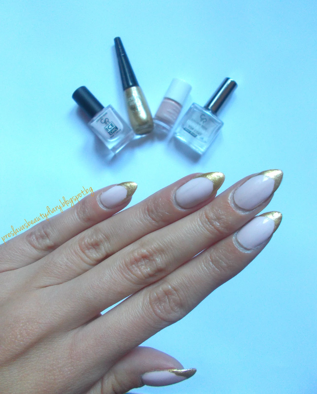 Preslava\'s Beauty Diary: NOTD:Gold Tip French Manicure + New Nail ...