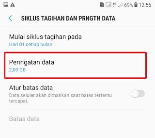 Tutorial Hilangkan Peringatan Penggunaan Data Pada Samsung