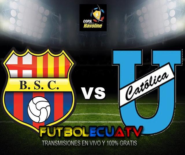 Barcelona SC se mide ante Universidad Católica en vivo desde las 18:00 horario designado por la FEF a disputarse en el Estadio Monumental Isidro Romero Carbo por la jornada cinco del Futbol Ecuatoriano, siendo el juez principal Carlos Orbe con transmisión del canal autorizado GolTV.