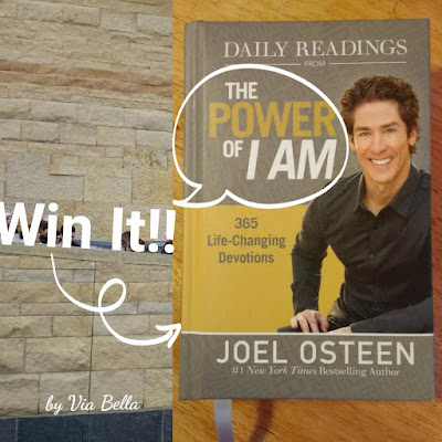 The Power of I Am {Win It}, devotional, giveaway, enter to win, joel olsteen, christainity, I am, self help, motivational, new york best time best seller, book review, via bella