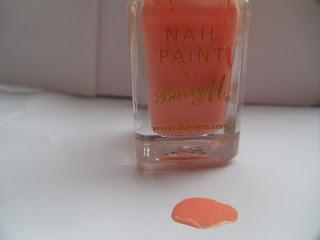 Peach melba - Barry M - Nail paint - nail varnish - nail polish - pastel - peach - nail lacquer