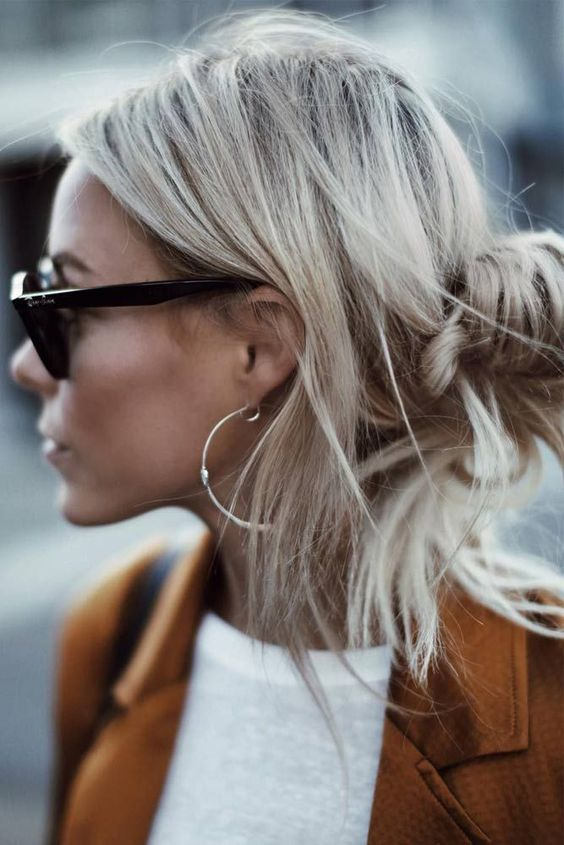 Blonde Straight Styles for Medium Hair