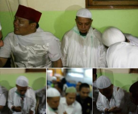 Ustadz Arifin Ilham terkena gas air mata