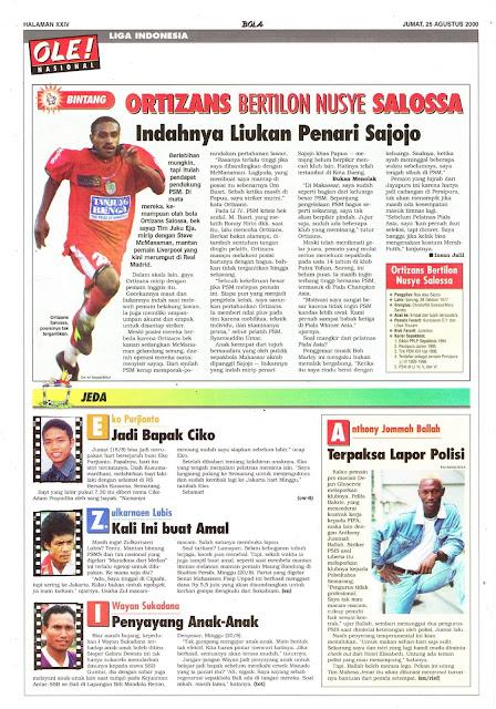 LIGA INDONESIA PROFIL BINTANG ORTIZANS BERTILON NUSYE SALOSSA