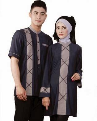 Desain Busana Muslim Couple Untuk Lebaran Terbaru