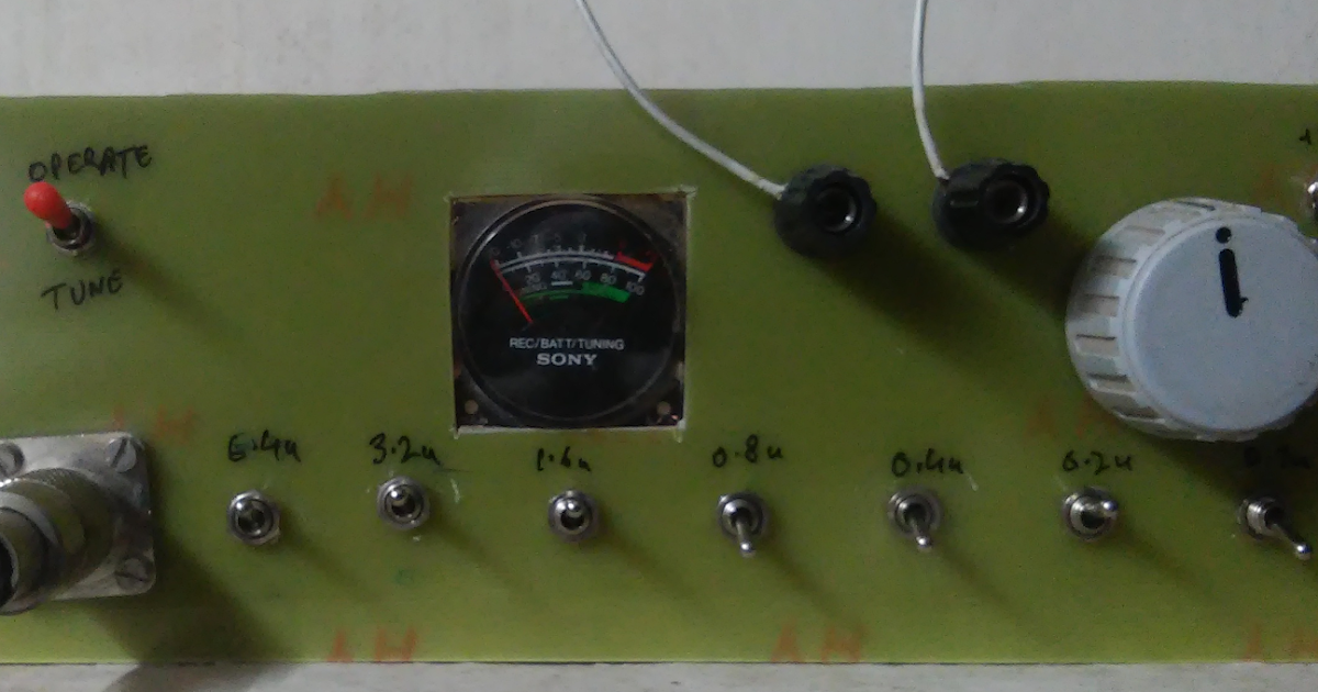 VU2ESE's radio experiments: A Balanced Tuner