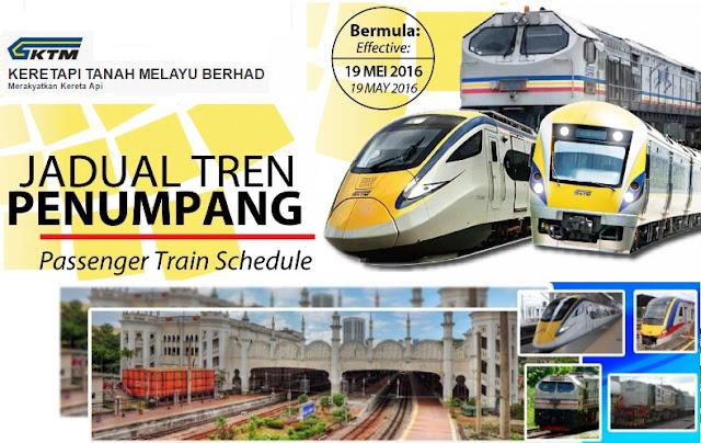 Jadual Perjalanan ETS & Tren Intercity KTMB
