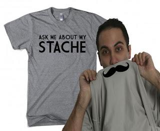 Diseño de camiseta ingeniosa con bigote