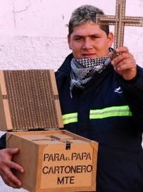 El regalo de los cartoneros para el Papa Francisco