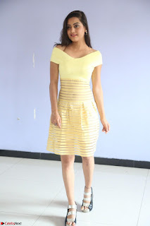 Shipra gaur in V Neck short Yellow Dress ~  075.JPG