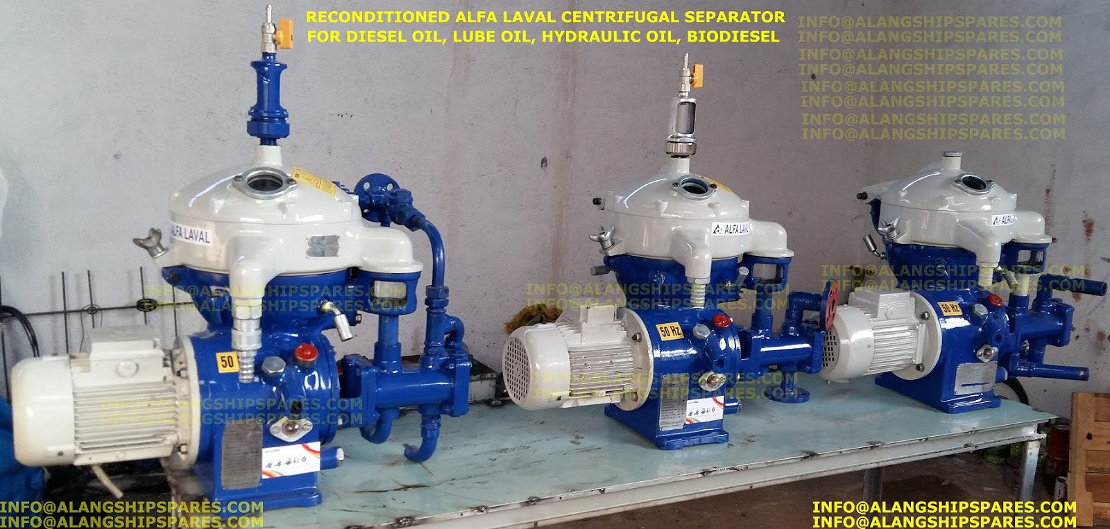 Alfa Laval high speed disc centrifuge, industrial centrifuge , MAB-103 LO  purifier, DO purifier, MAB-103 spares