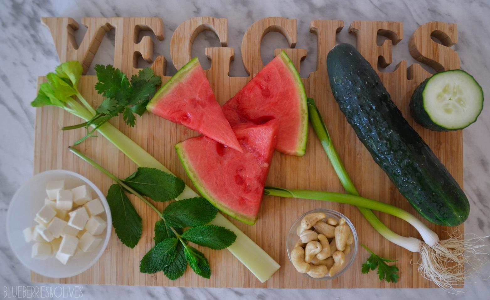 Ingredientes - Ensalada de pepino y sandía con vinagreta oriental 4