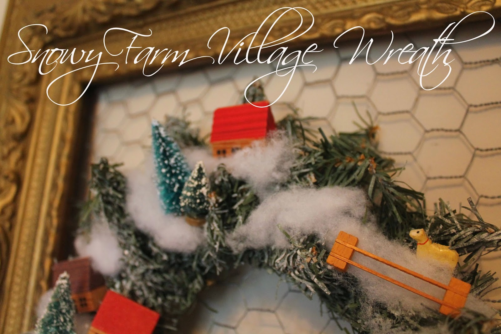 amazing diy snow village wreath, the altered past blog