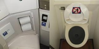 Larangan ke toilet saat pesawat landing atau take off.