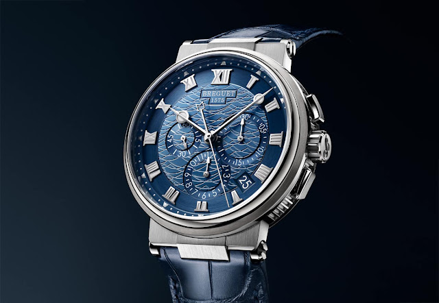 Breguet Marine Chronograph 5527 in white gold and blue dial