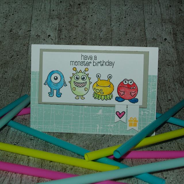[DIY] Have A Monster Birthday!  Süße Monster-Geburtstagskarte aus einer anderen Welt