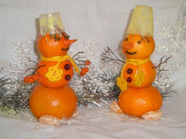 апельсиновые снеговики