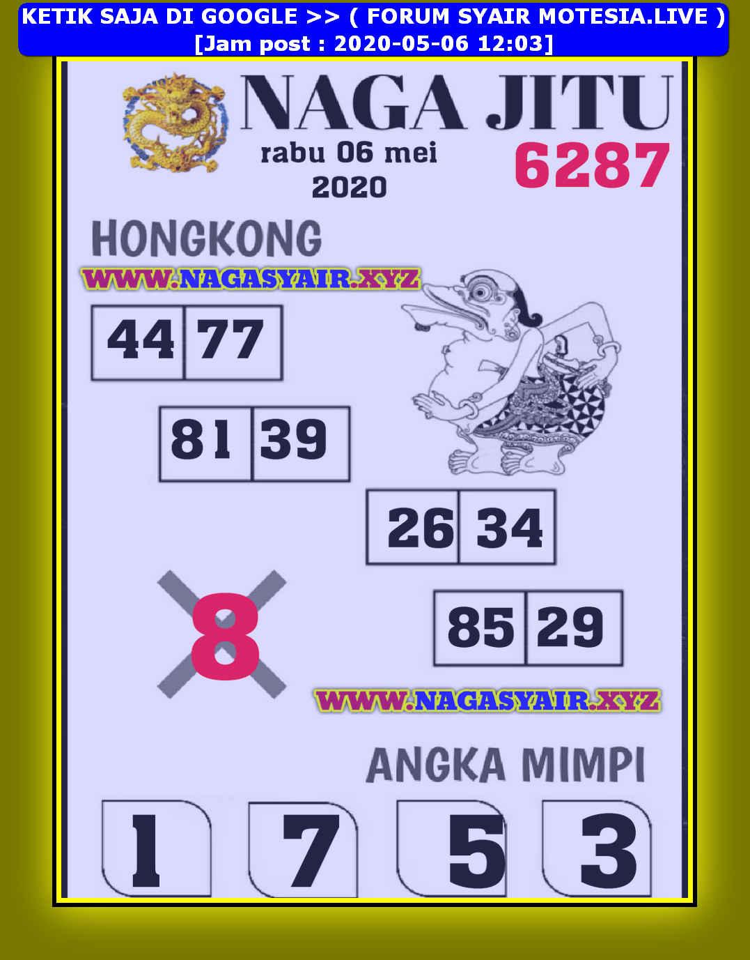 Kode syair Hongkong Rabu 6 Mei 2020 241