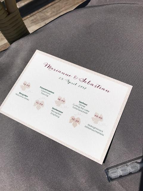 Time Line Cards, Monaco di Bavaria wine shades and wood grains, Hochzeitsmotto, heiraten 2017 im Riessersee Hotel Garmisch-Partenkirchen, Bayern, wedding venue, dunkelrot, dunkelgrün, Weinthema
