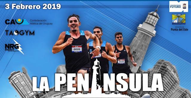 5k y 10k La Península Urban race en Punta del Este (Maldonado, 03/feb/2019)