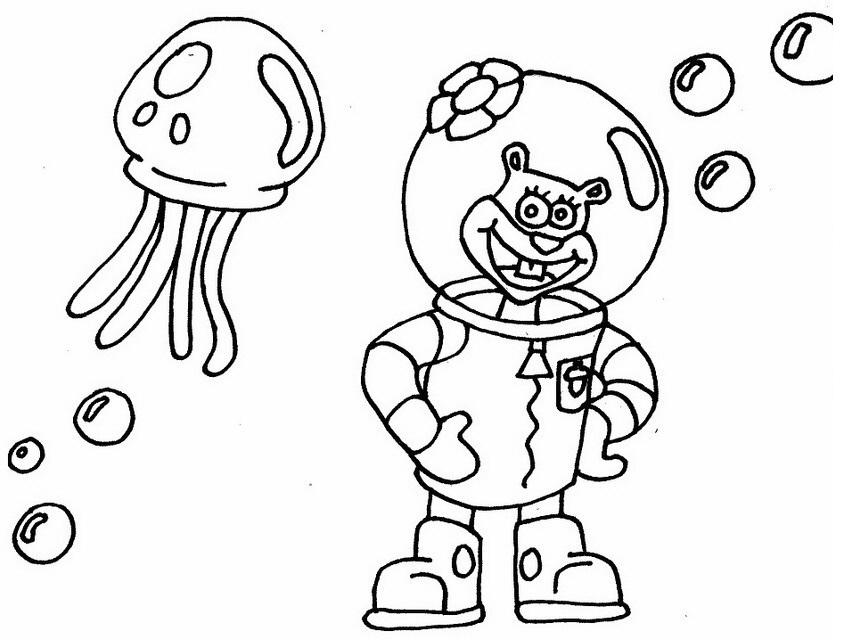 Arenita Y Medusa Para Colorear Dibujo Views