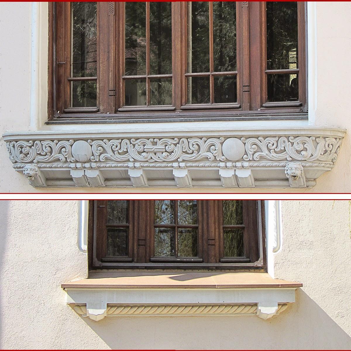 solbanc neoromanesc pentru fatade case, elemente decorative din polistiren