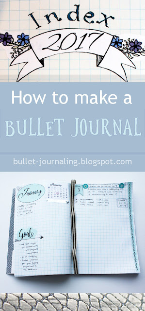Picture: How to make a bullet journal