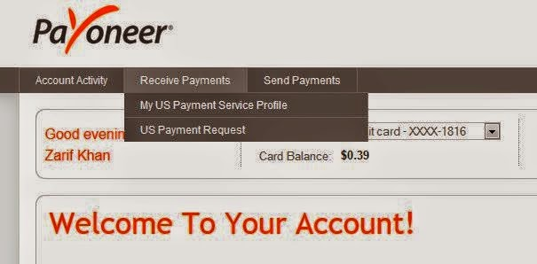 Bank Account Details from Payoneer
