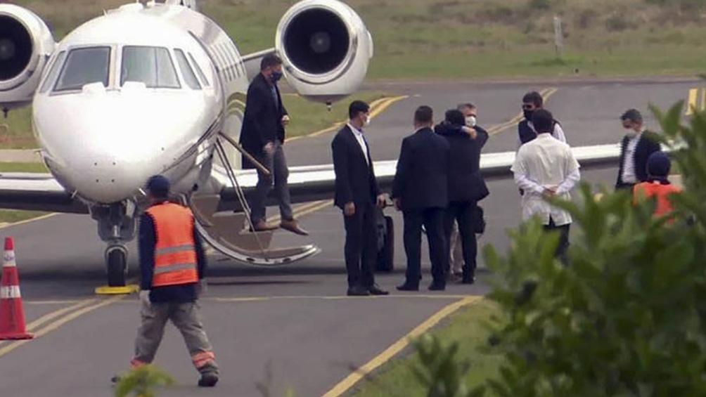 Macri viajó a Paraguay bajo estrictos protocolos por coronavirus y almorzó con Cartés