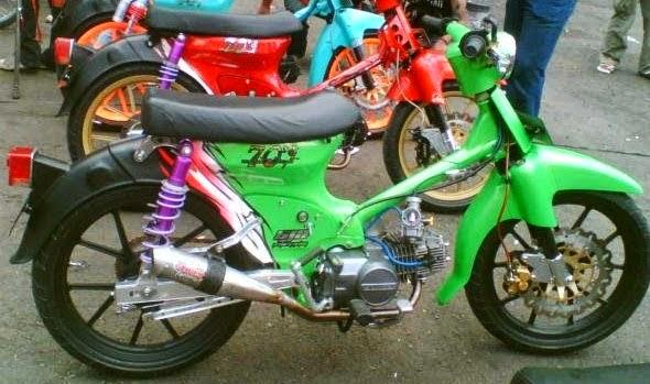 modifikasi motor bebek 70 terkeren