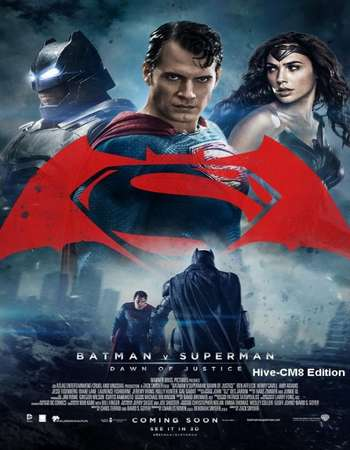 Poster Of Batman v Superman Dawn of Justice 2016 Dual Audio 400MB HDTS 480p Free Download Watch Online