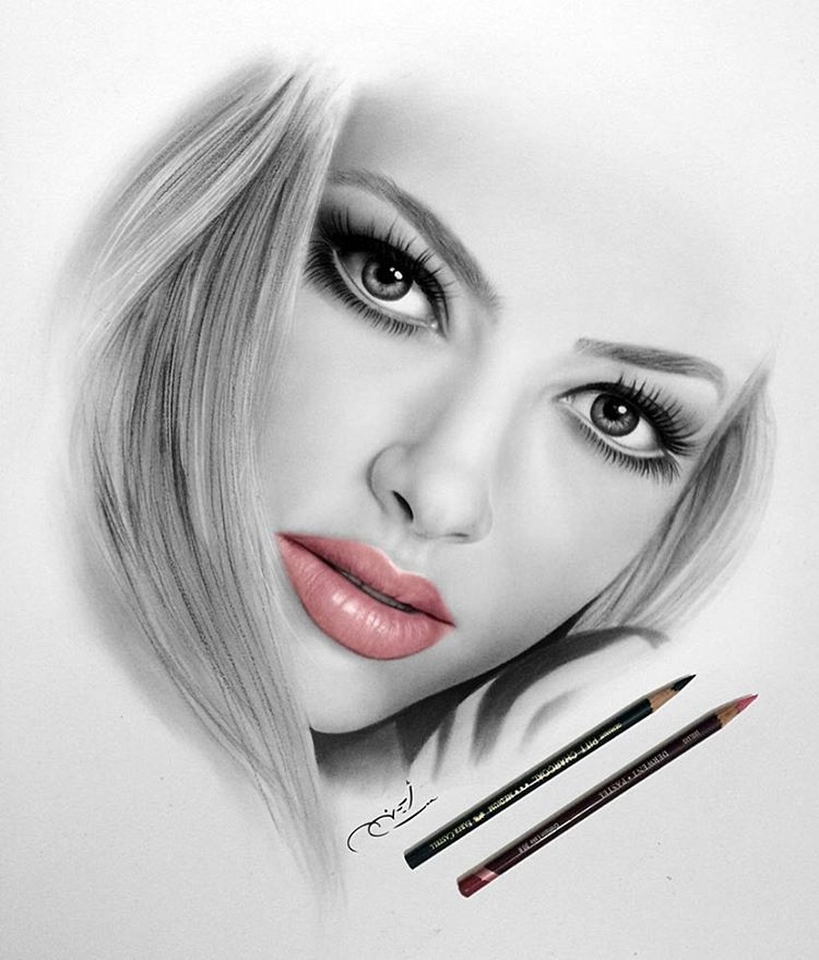 16-Pink-Lipstick-aymanarts-Realistic-Drawings-of-Celebrities-and-Other-www-designstack-co
