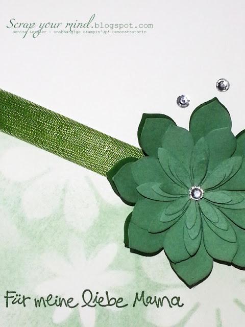 Masking-Designerpapier-Blütenakzent