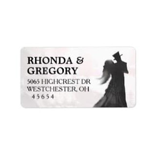 Halloween Silhouette Wedding Address Label