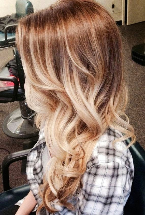 Bohemian Blonde Ombre Long Hair}