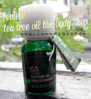 Review tea tree oil the bodyshop untuk menghilangkan jerawat