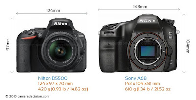 Nikon vs Sony, Nikon D5500, Sony SLT A68, Sony camera, new Nikon, DSLR camera, 4D focus, Nikon D5500 vs Sony A68,