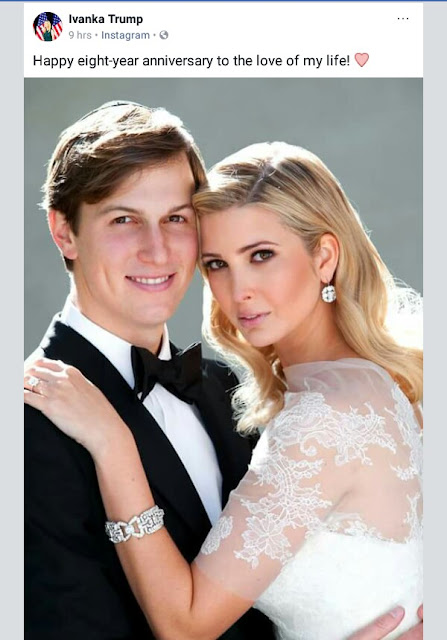 Ivanka Trump celebrates 8th wedding anniversary with husband Jared Kushner