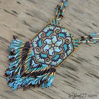купить кулон ожерелье из бисера с авторским орнаментом