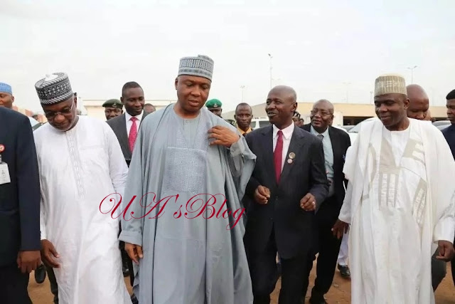 Saraki visits EFCC's new headquarters in Abuja