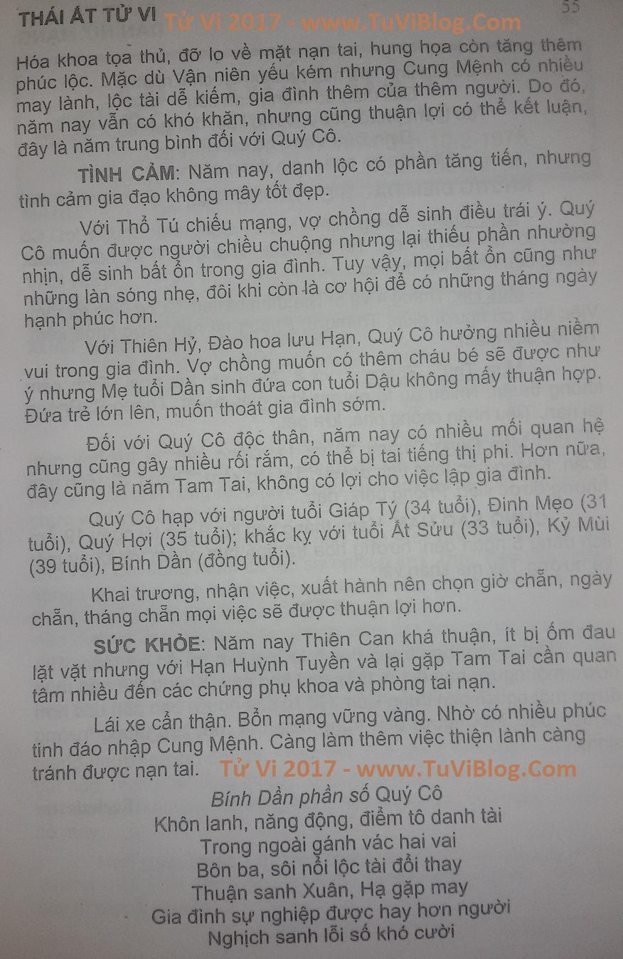 Xem tu vi 2017 Binh Dan nu