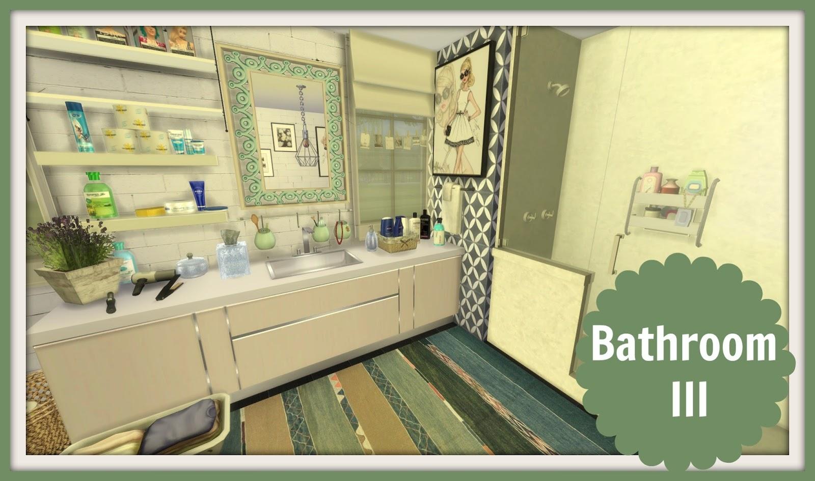 Sims 4 bathroom iii dinha for Bathroom ideas sims 4