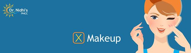 A girl putting on Makeup