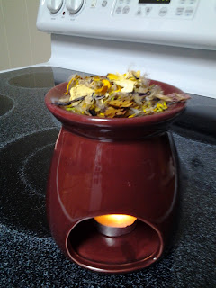 Aroma lamp with pedals. Step 7:  Place dried flowers in the cap. Add a non-scented oil (or even water) and enjoy the delightful smells.